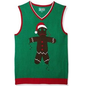 Ugly Christmas Sweater Co. men's Small Gingerbread